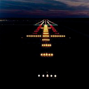 At night only the essential gets illuminated.