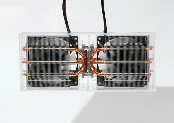 Two back-to-back CPU cooling units form a Heat Recovery Ventilator